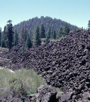 Lava flow from South Twin Butte, California.